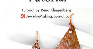 Hammered Metal Earrings Tutorial by Rena Klingenberg - featured on Jewelry Makin...