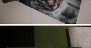 Photos on metal. INEXPENSIVE!!! Metal only costs 33 cents! This blog shows how t...