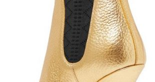 Fendi - Metallic textured-leather ankle boots