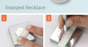"""ImpressArt """"Stamped Necklace"""" metal stamping tutorial. A step by step guide to c..."""
