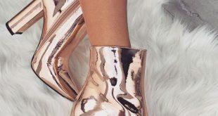 Tatum Boots Rose Gold Metallic