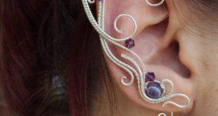 Elven ear cuffs Purple Joy - Ear cuff - Elf ears - Fairy ear cuffs - Ear cuff no piercing - Ear wrap