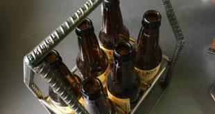 Industrielle geschweißt Stahl Bewehrung Bier Caddy mit