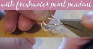 Learn how to make your very own pearl and spiral pendant necklace with this easy...
