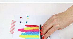 Wie man Paint Scrape-Kunst mit Persien lou macht – DIY ART PROJECT IDEA – PAINT SC
