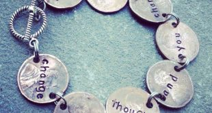 Change your thoughts and you change your world, penny bracelet