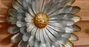 Galvanized Metal Wall Flower #fashion #home #garden #homedcor #wallsculptures (e...