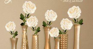 Gold Vasen goldene Hochzeit Gold Mittelstücke Gold Knospe
