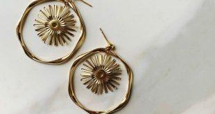 Goldene Kosmos-Ohrringe -