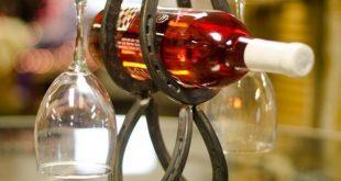 Horseshoe Wine Bottle Storage Hufeisen Weinflaschenhalter Wonderland Welding on ...