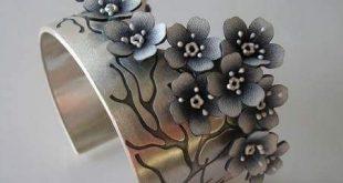 Jolanta Bromke, bracelet, metal, leather