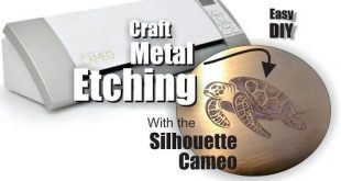 Silhouette Cameo craft Metal Etching with cut vinyl stencils - YouTube