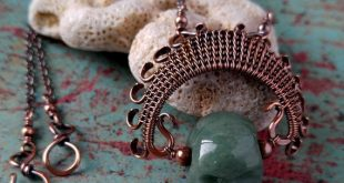 The Original Door 44 Ancestor Pendant - Handwoven with copper wire and strung on a copper chain finished with a handmade copper clasp