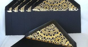 Wedding Invitation Gold Lined Envelopes Modern Ivory Any Color Custom Gold Lace Lined Envelopes Any Size Gold Lace Envelope Custom Size