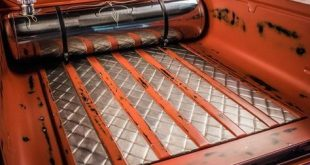 hotrod truck rat rod diamond stitch bead roll sheet metal interior bed