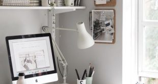 A light summer workspace with Design Letters & Friends. Love the grey wall and a...