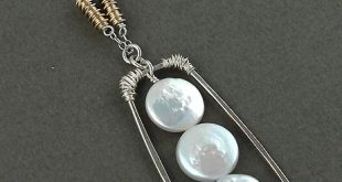 Coin pearl sterling silver necklace . . . handmade in usa