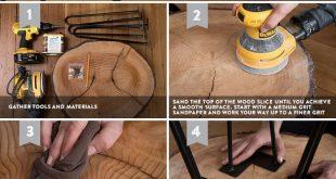 DIY Wood Slice Table # Scheibentabelle