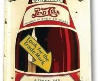 Details about Pepsi Cola Bottle Metal Decor Vintage Rustic Retro Tin Metal Sign