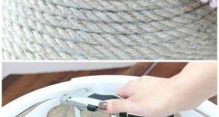 Dollar-Speicher-Wäschekorb drehte schicker metallischer Seil-Korb #dollar #dre...