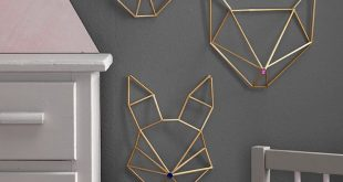 Moderne Wanddekoration - Geometrie trifft Metall auf Pinterest