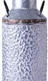 Vintiquewise QI003454.L Rustic Farmhouse Style Galvanized Metal Milk Can Decorat...
