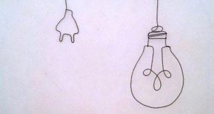 Wandering Wire Wall lamp metal dangle earrings, wandering lamp design, hanging l...