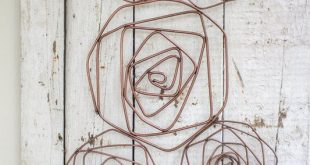 Wire Roses Sculpture Wall Décor - #Decor #metall #Roses #Sculpture #Wall #Wire